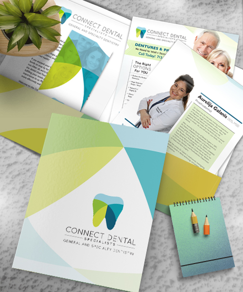 Connect Dental Specialists  |  Marketing Kit: Brochure, Letterhead, Info. Sheets