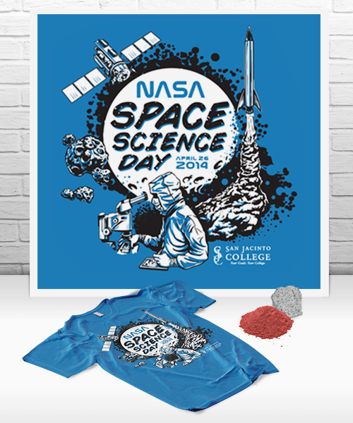 San Jacinto College, Nasa Space Science Day  |  Promotional Illustration