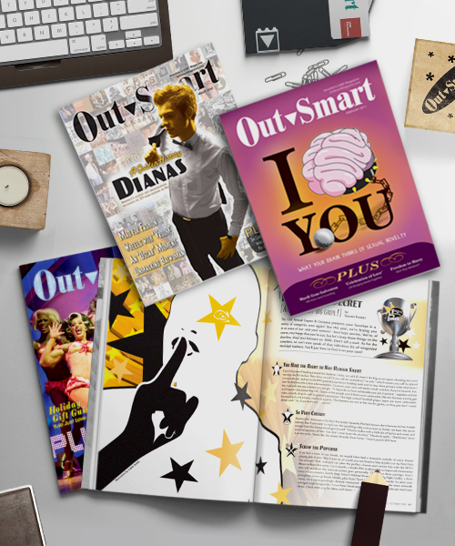 OutSmart Magazine | Asst. Covers and Layouts  |  Various Art Directors